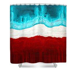 Pueblo Cemetery Original Painting Shower Curtain