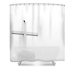 Pueblo Cross Shower Curtain