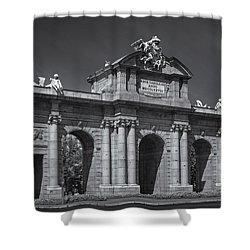 Puerta De Alcala Shower Curtain by Susan Candelario