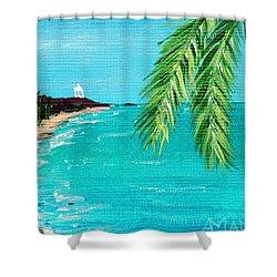 Puerto Plata Beach  Shower Curtain by Anastasiya Malakhova