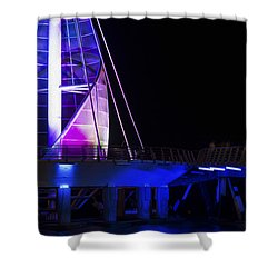 Puerto Vallarta Pier Shower Curtain by Aged Pixel