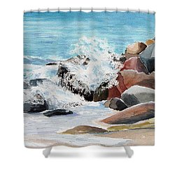 Puerto Vallarta Rocks Shower Curtain