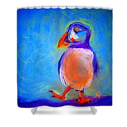 Funky Puffin Dancing Shower Curtain