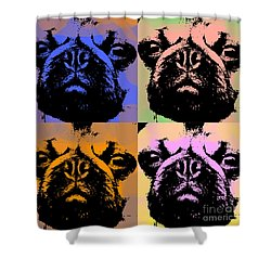 Pug Pop Art Shower Curtain