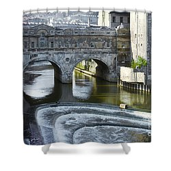 Pulleney Bridge Shower Curtain by Bob Phillips