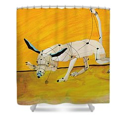Pulling My Own Strings Shower Curtain by Pat Saunders-White