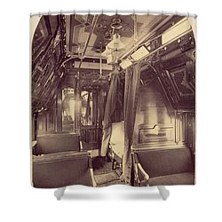 Pullman Palace Sleeping Car 1870 Shower Curtain by Getty Research Institute