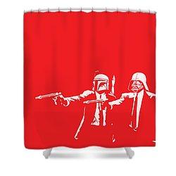 Pulp Wars Shower Curtain by Patrick Charbonneau