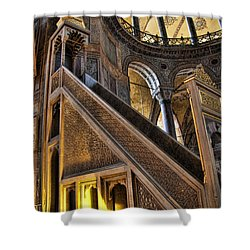 Pulpit In The Aya Sofia Museum In Istanbul  Shower Curtain