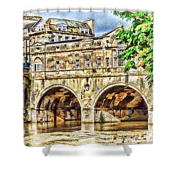 Pulteney Bridge Bath Shower Curtain