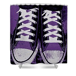 Pumped Up Purple Shower Curtain by Ed Smith