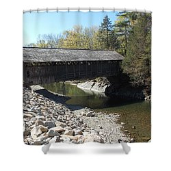 Pumping Station Covered Bridge Shower Curtain