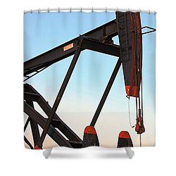 Pumpjack Shower Curtain