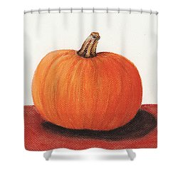 Pumpkin Shower Curtain by Anastasiya Malakhova