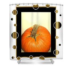 Pumpkin Card Shower Curtain