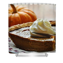 Pumpkin Delight Shower Curtain by Cheryl Baxter