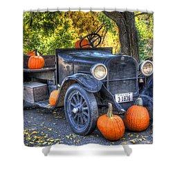 Pumpkin Hoopie Shower Curtain