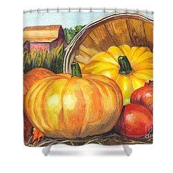 Pumpkin Pickin Shower Curtain