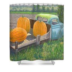 Pumpkin Truck Shower Curtain