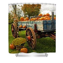 Pumpkins Shower Curtain by Bill Howard