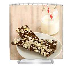 Pumpkinseed And Burnt Butter Toffee Shower Curtain by Edward Fielding