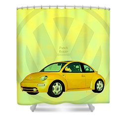 Punch Buggy Shower Curtain by Bob Orsillo