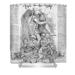 Punch's Almanack For 1885 Shower Curtain