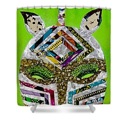 Shower Curtain featuring the tapestry - textile Punda Milia by Apanaki Temitayo M