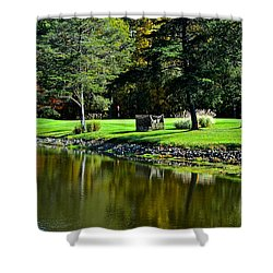 Punderson Golf Course Shower Curtain by Frozen in Time Fine Art Photography