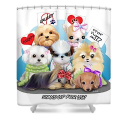 Puppies Manifesto Shower Curtain