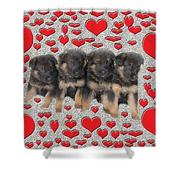 Puppy Love Shower Curtain by Aimee L Maher Photography and Art Visit ALMGallerydotcom