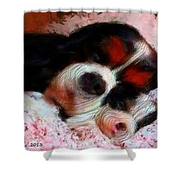 Puppy Love Shower Curtain by Bruce Nutting