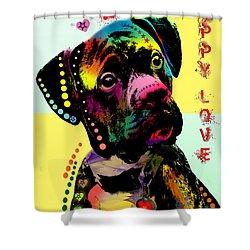 Puppy Love Shower Curtain by Mark Ashkenazi