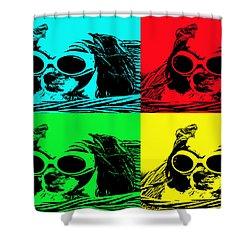 Puppy Mania Pop Art Shower Curtain