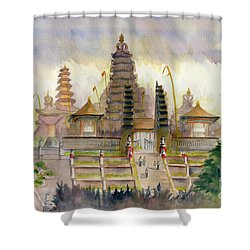 Pura Besakih Bali Shower Curtain by Melly Terpening