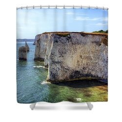 Purbeck - Dorset Shower Curtain by Joana Kruse