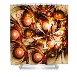 Pure Energy Shower Curtain by Anastasiya Malakhova