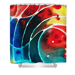 Pure Joy 2 - Abstract Art By Sharon Cummings Shower Curtain by Sharon Cummings
