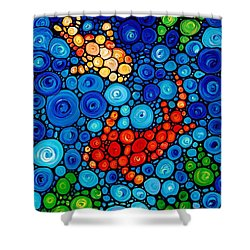 Pure Koi Joi Shower Curtain