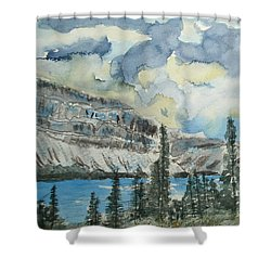 Pure North - Bow Lake Alberta Shower Curtain
