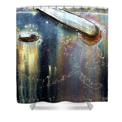 Shower Curtain featuring the photograph Pure Patina by Newel Hunter