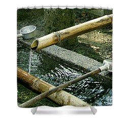 Purification Shower Curtain by Jean Hall