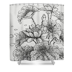 Purity And Beauty Shower Curtain