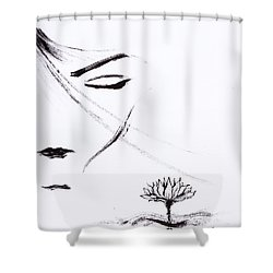 Purity Shower Curtain by Len YewHeng