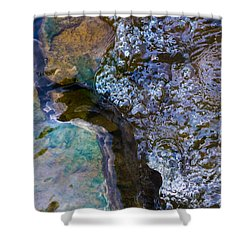 Purl Of A Brook 1 - Featured 3 Shower Curtain by Alexander Senin