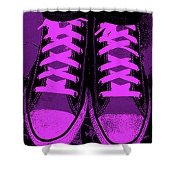 Purpink Shower Curtain by Ed Smith