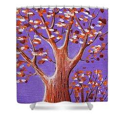 Purple And Orange Shower Curtain by Anastasiya Malakhova