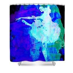 Purple Ballerina Watercolor Shower Curtain by Naxart Studio