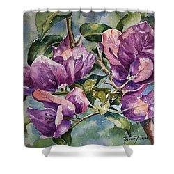 Purple Beauties - Bougainvillea Shower Curtain