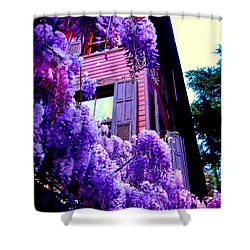 Purple Cheer Shower Curtain